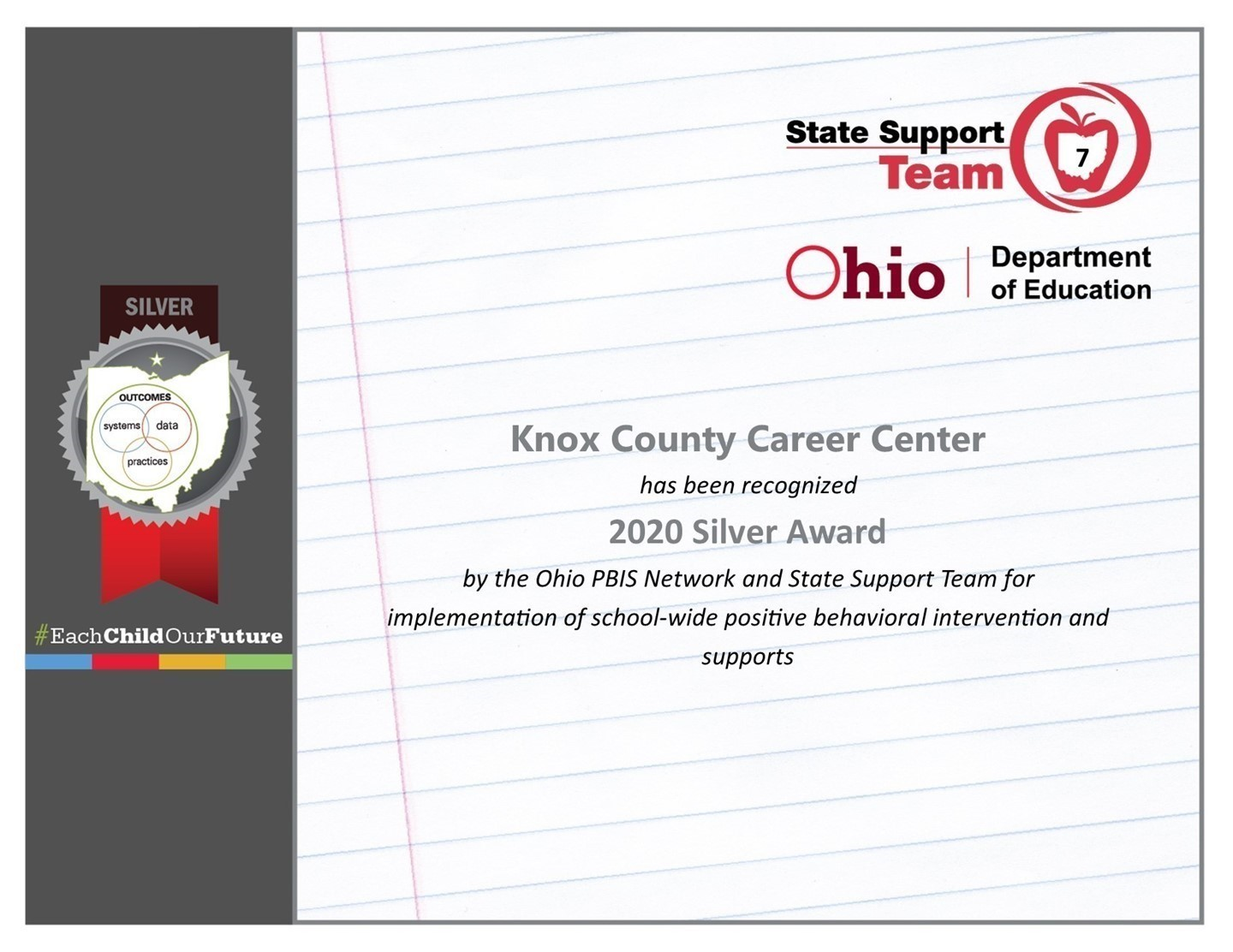 Knox County Career Center Certificate